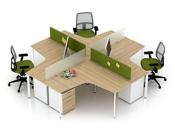 Hãy dùng các dãy bàn dài dạng module để tăng tính kết nối
