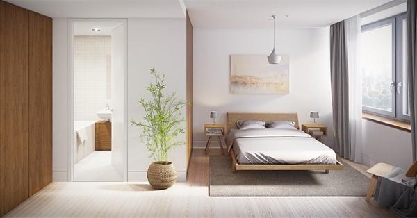 Bố trí nhà vệ sinh trong phòng ngủ mang lại sự tiện lợi