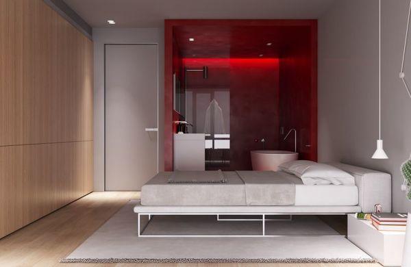 Nhà vệ sinh trong phòng ngủ theo phong cách thiết kế hiện đại