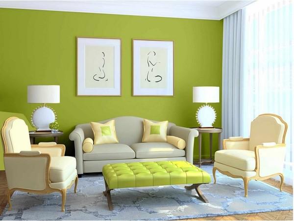 Màu sơn phòng khách cho mệnh Mộc