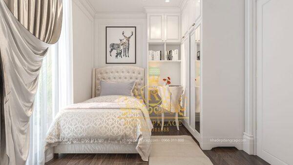 Phòng ngủ cho bé trai với gam màu đơn giản