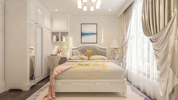 Phòng ngủ cho bé gái với gam màu nhẹ nhàng