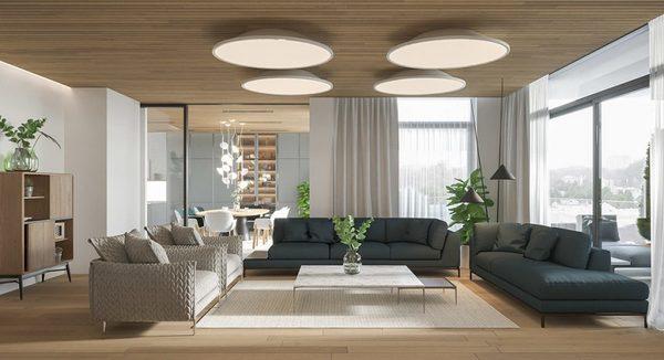 Thiết kế nội thất hiện đại là sự thay đổi hầu hết các yếu tố của kiến trúc cổ điển