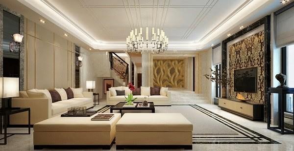 Không gian phòng khách rộng rãi, đẳng cấp với phong cách hiện đại