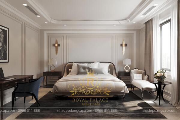 Bạn có thể chọn phong cách thiết kế nội thất tân cổ điển cho phòng ngủ có diện tích trên 20m2