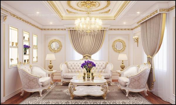 Phòng khách với lối thiết kế độc đáo, mới lạ, rất ấn tượng
