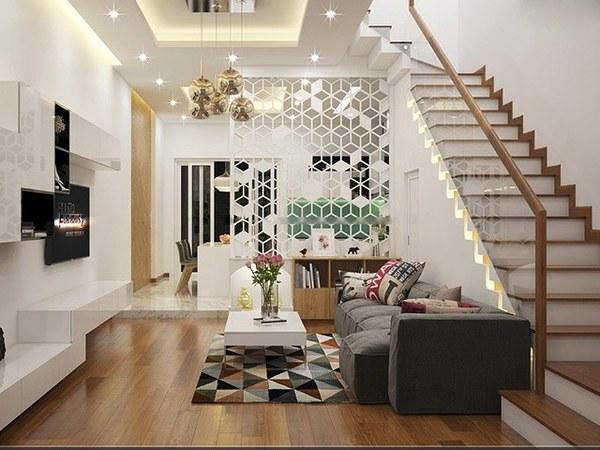 Thiết kế phòng khách liền bếp nhà ống đã trở thành giải pháp được nhiều người lựa chọn cho không gian của gia đình mình