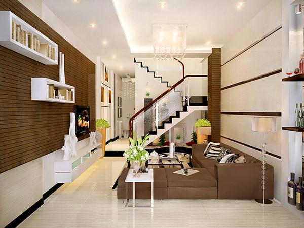 Thiết kế ngăn cách bằng cầu thang thông tầng