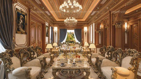 Từ thế kỷ 18 tới thế kỷ 19, phong cách nội thất tân cổ điển đã phát triển và thống trị toàn bộ các công trình kiến trúc ở châu Âu