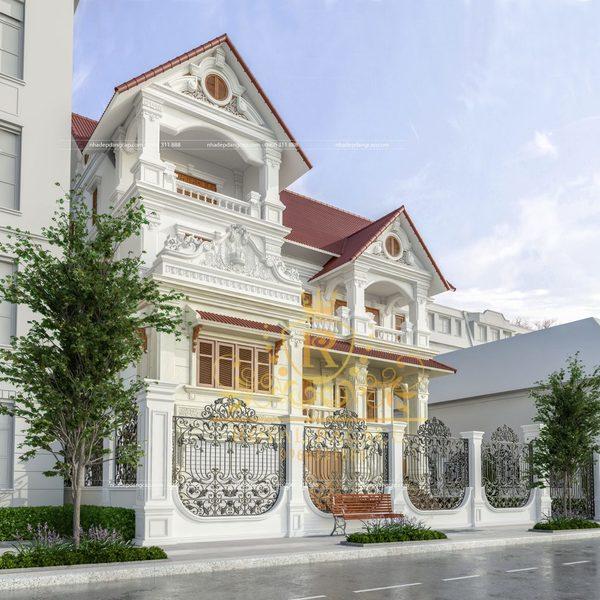 Mặt tiền nhà được chăm chút kỹ lưỡng, đẹp mắt