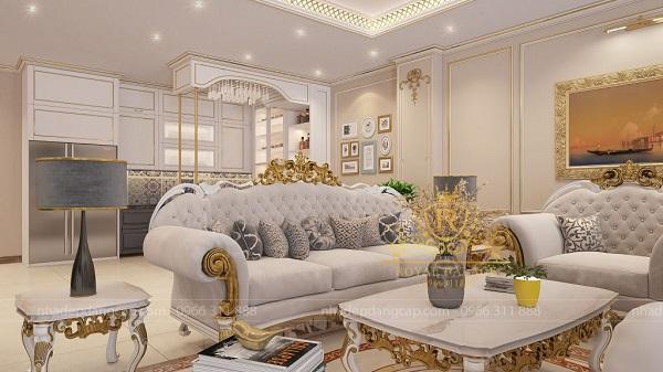 Sofa với hoa văn đẹp mắt giúp tôn lên sự sang trọng cho ngôi nhà